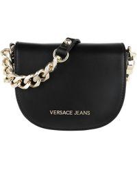 Versace Jeans - Chain Shoulder Bag Black - Lyst