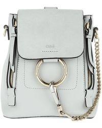 Chloé - Faye Backpack Mini Airy Grey - Lyst