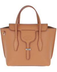 f8b70f641 Tod's Small Joy Leather Shoulder Bag in Natural - Lyst