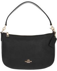 2b01009fbf0 COACH - Polished Leather Chelsea Crossbody Bag Black - Lyst