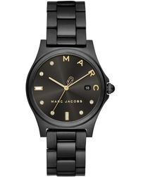 Marc Jacobs - Henry Ladies Watch Black - Lyst