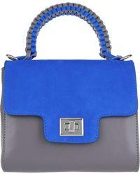Lili Radu - Suede Miniature Bag Rose Taupe/striking Blue - Lyst