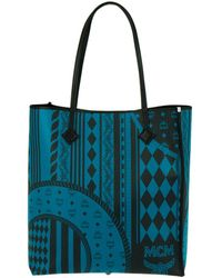 MCM - Kira Visetos Ns Shopper Medium Munich Blue - Lyst