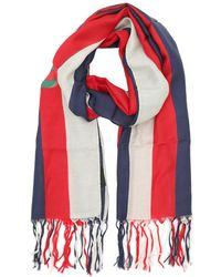 355e6855fc2a Gucci Sylvie Leopard Print Modal Silk Shawl Leo/green in Red - Lyst