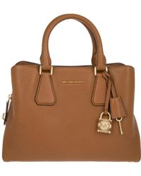 MICHAEL Michael Kors - Camille Md Satchel Leather Luggage - Lyst