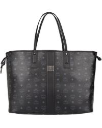 MCM - Project Visetos Liz Reversible Shopper Large Black - Lyst