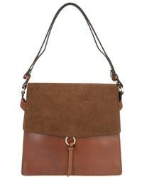 Closed - Soft Square Shoulder Bag Brown - Lyst