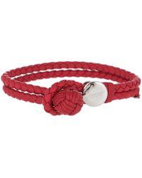 Bottega Veneta - Intrecciato Nappa Bracelet Red - Lyst