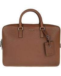 Michael Kors | Bryant Lg Briefcase Leather Luggage | Lyst