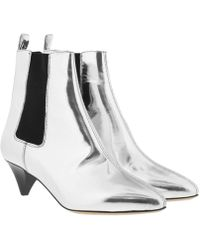 Étoile Isabel Marant - Dawell Ankle Boots Silver - Lyst