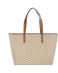 Michael Kors - Emry Lg Tz Tote Natural/luggage - Lyst