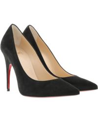 e0a44977e3e Christian Louboutin Pigalle Fllies Patent Pumps Voile in Pink - Lyst