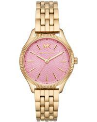 Michael Kors - Mk6640 Lexington Watch Gold - Lyst
