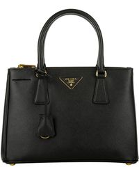 e090431a73ff Prada Esplanade Tote Bag Saffiano + City Calf Mercurio nero in Black ...