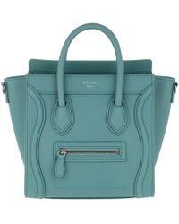 Céline - Nano Luggage Crossbody Bag Lagoon - Lyst