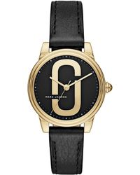 Marc Jacobs - Corie Goldtone Stainless Steel Leather Strap Watch - Lyst