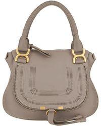 a09d3da3e4 Chloé Marcie Porte Epaule Bag Medium Airy Grey in Blue - Lyst