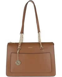 DKNY - Chain Sutton Bryant Lg Zip Tote Camel - Lyst