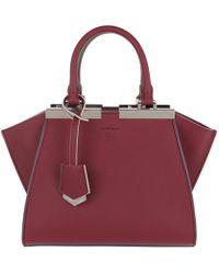 Fendi - 3jours Tote Bag Mini Black/cherry - Lyst