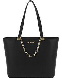 Love Moschino | Nappa Shopping Bag Oro/nero | Lyst