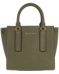 461c109ba512 Michael Kors Mercer Md Snap Pocket Crossbody Bag Olive in Green - Lyst