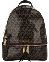 624271f93fe0 Michael Kors Rhea Zip Md Backpack Gold Pearl Grey in Gray - Lyst