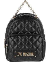 f222744f311d Love Moschino Backpack Nappa Pu Trapuntata Nero in Black - Lyst