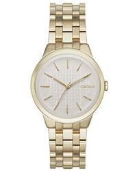 DKNY - Ny2382 Park Slope Watch Light Gold - Lyst