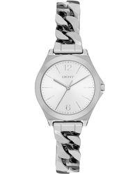 DKNY - Parsons Matte Watch Silver - Lyst