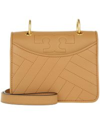 Tory Burch - Alexa Mini Shoulder Bag Aged Vachetta - Lyst