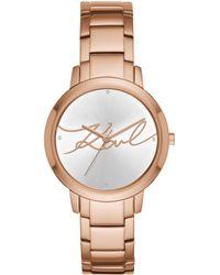 Karl Lagerfeld - Camille Klassic Watch Rosegold - Lyst