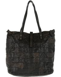 Campomaggi - Patchwork Shopping Bag Grigio - Lyst