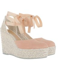 Manebí - Hamptons Hwv Wedges Suede Pastel Rose - Lyst