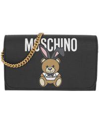Moschino | Playboy Bear Wallat On Chain Black | Lyst