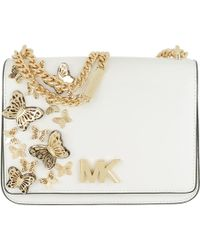 3c22a2a53efb0e Michael Kors - Mott Large Butterfly Chain Shoulder Bag Optic White - Lyst