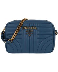 3bf07b9f1d6147 Prada Diagramme Crossbody Bag Leather Mare in Blue - Lyst
