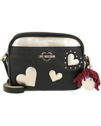 a6d0db89478c MICHAEL Michael Kors Ginn Black Leather Shoulder Bag With Hearts ...