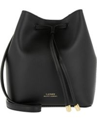 4f0747af7f57 Lauren by Ralph Lauren - Dryden Debby Ii Drawstring Mini Black crimson -  Lyst