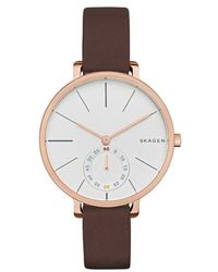 Skagen - Ladies Hagen Millanaise Rose/brown - Lyst