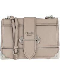 00b4edb3583d Prada - Cahier Shoulder Bag Leather Pomice/astrale - Lyst