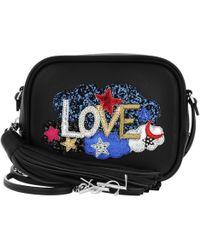 Saint Laurent - Love Blogger Bag Leather Black - Lyst