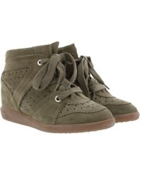 5d13195d3a Étoile Isabel Marant - Bobby Trainers Velvet Stainer Basket Taupe - Lyst