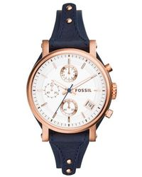 Fossil - Es3838 Original Boyfriend Watch Navy - Lyst