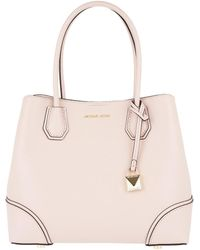 Michael Kors - Mercer Gallery Md Centre Tote Soft Pink - Lyst