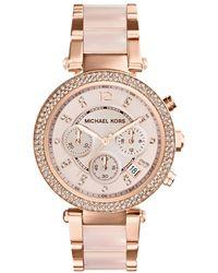 Michael Kors - Mk5896 Parker Watch Rosé - Lyst