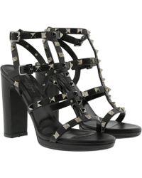 Valentino - Rockstud Gladiator Court Shoes Black - Lyst