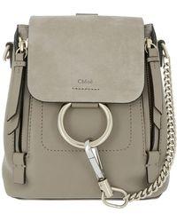 Chloé | Faye Backpack Motty Grey | Lyst