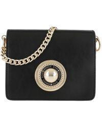 Versace Jeans - Emblem Crossbody Bag Black - Lyst