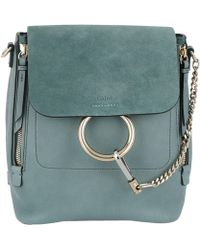 Chloé | Faye Backpack Small Cloudy Blue | Lyst