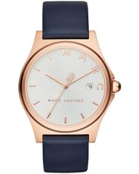 Marc Jacobs - Henry Classic Watch Rosegold/white - Lyst